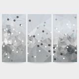 Set of abstract backgrounds, molecule structure, Royalty Free Stock Photo