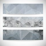 Set of abstract backgrounds, molecule structure, Royalty Free Stock Photography