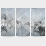 Set of abstract backgrounds, molecule structure, Royalty Free Stock Image