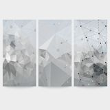 Set of abstract backgrounds, molecule structure, Stock Photography
