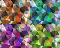 Set of abstract backgrounds polygonal Stock Photos