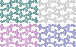 Set of abstract backgrounds, seamless texture. Different colours: pink, violet, light green, green. Background and texture Stock Images