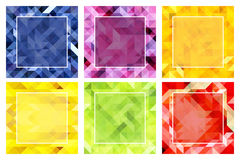 Set of abstract backgrounds in tropical colors Stock Photo