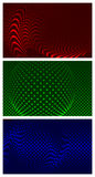 Set of 3 abstract backgrounds. Stock Photos
