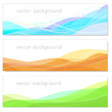 Set of abstract backgrounds. Vector illustration of a set of abstract backgrounds Stock Photo