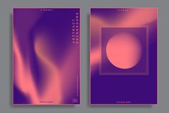 Design templates with vibrant gradient shapes. Set of abstract backgrounds with vibrant gradient shapes. Design template for covers, placards, posters, flyers Royalty Free Stock Image