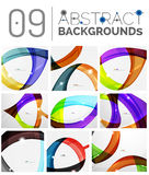 Set of abstract backgrounds Stock Photos