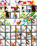 Set of abstract backgrounds Royalty Free Stock Photos