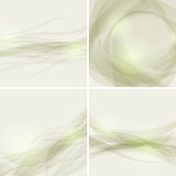 Set of abstract backgrounds with waves, vector ill