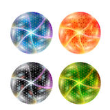 Set abstract ball. Set of four abstract ball Royalty Free Stock Photography