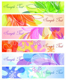 Set of abstract banner backgrounds Royalty Free Stock Image