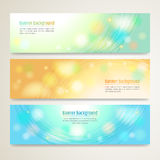 Set of abstract banner design with line sparkle background  Royalty Free Stock Image