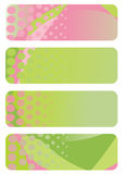 Set of abstract banners Royalty Free Stock Images