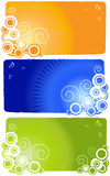 Set of abstract banners Royalty Free Stock Image