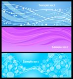Set abstract banners Royalty Free Stock Photos