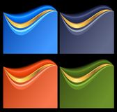 Set of abstract banners Stock Photos
