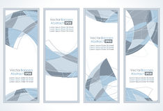 Set of abstract banners. Empty frames with abstraction in a room against a white wall Royalty Free Illustration