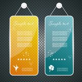Set of abstract banners. Collection of transparent glass banners Vector Illustration