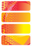 Set of abstract banners Stock Image
