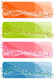 Set of abstract banners Royalty Free Stock Photos