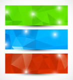 Set of abstract banners Stock Photo