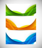 Set of abstract banners Royalty Free Stock Photo
