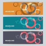 Set of abstract banners with hands and arrows Royalty Free Stock Photography