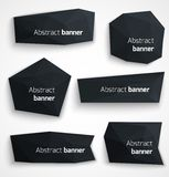 Set of abstract black banners, modern style design Royalty Free Stock Photo