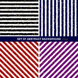 Set of abstract black, blue, red, purple, white striped on trendy background with random gold foil dots pattern. You can use for stock illustration