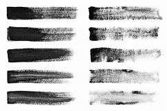 Watercolour. Set of abstract black watercolor stroke backgrounds. vector illustration