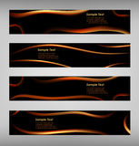 Set of abstract black web banner Royalty Free Stock Photos