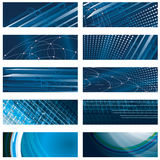 Set of abstract blue background stock illustration