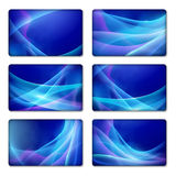 Set of abstract blue backgrounds Stock Photography