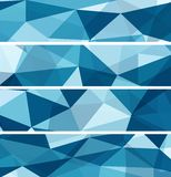Set of Abstract Blue Backgrounds. Set of Abstract Blue Triangle Geometrical Backgrounds, Vector Illustration EPS10 Royalty Free Stock Photos