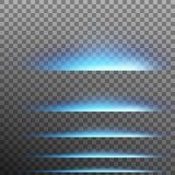 Set. Abstract blue glare effect lights. EPS 10 vector. Set. Abstract blue glare effect lights. Isolated on transparent background. And also includes EPS 10 royalty free illustration