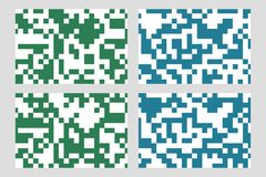 Set of abstract blue and green geometric backgrounds. For design Stock Photography