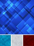 Set abstract blue red gray square shape technology laser backgro. Und. Vector illustration Stock Image