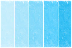 Set of abstract blue watercolor hand painted Stock Photo