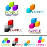 Set of abstract brands from vector cubes Stock Photography