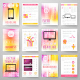 Set of abstract bright background for flyer Royalty Free Stock Photography