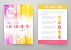 Set of abstract bright background for flyer Stock Images