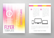 Set of abstract bright background for flyer Stock Image
