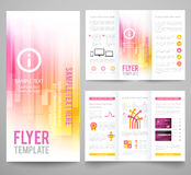 Set of abstract bright background for flyer Royalty Free Stock Photo