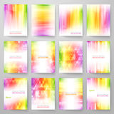 Set of abstract bright background. Vector Stock Photo