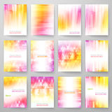 Set of abstract bright background. Vector Royalty Free Stock Images