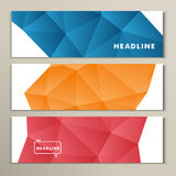 Set abstract bright pictures of red orange blue Royalty Free Stock Photography