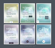 Set of Abstract business brochure, flyer and cover design layout Royalty Free Stock Photo