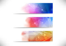 Set of abstract business cards Stock Photos