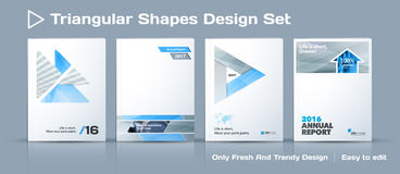 Set of Abstract business design, annual report, vector template brochure. Royalty Free Stock Photography