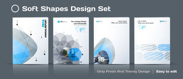 Set of Abstract business design, annual report, vector template brochure. Stock Image